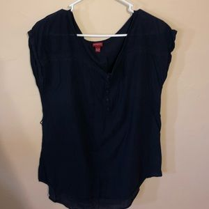 Deep blue blouse
